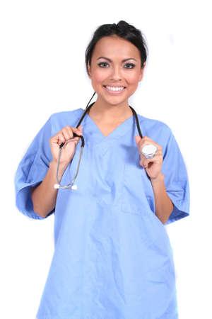 cna: Cute Mujeres Enfermera, Doctor, Médico trabajador genérico para cualquier escenario médico
