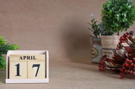 April 17, Vintage natural calendar.
