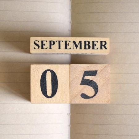 September 5, Natural notebook Calendar.