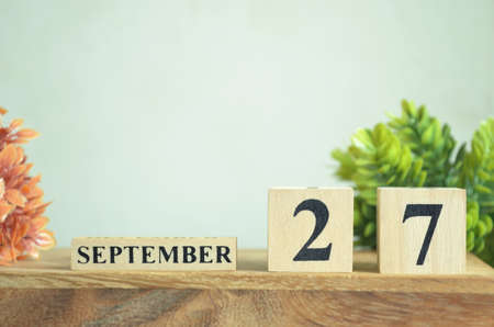 September 27, Cover natural Calendar, Appointment Date design. Reklamní fotografie