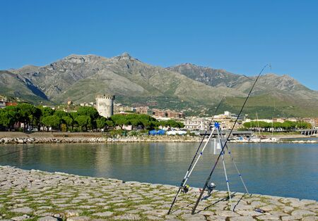 The city of Formia (Italy) seen from its harbor