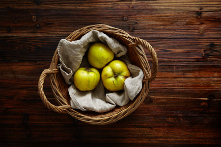 quinces: basket filled with quinces