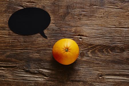 speech bubble - orange has a messge