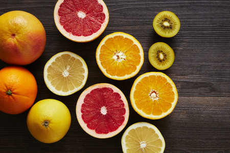 varitety of fruits with lot of vitamin c