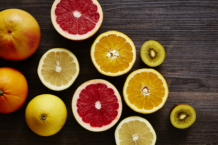 bunch of sliced ??fruits vitamin c