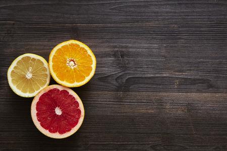 southsea: Arranged mix of citrus fruits Stock Photo