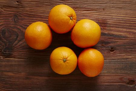 southsea: five organic oranges in a pile