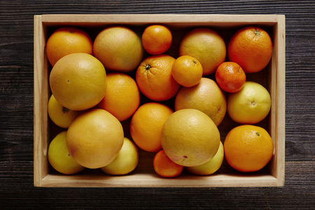 southsea: box filled with variety of citrus fruits