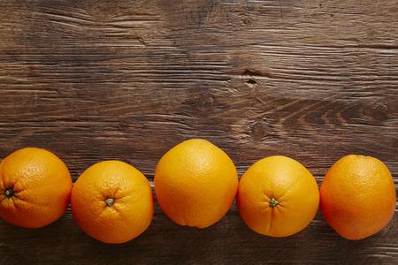 southsea: a row of organic oranges Stock Photo