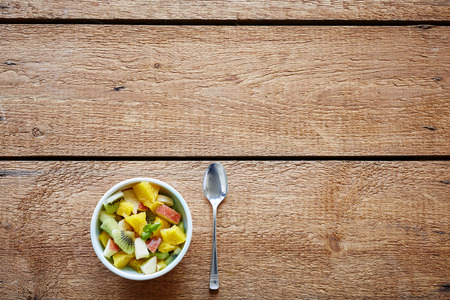 healthy organic fruit salad fit lifestyle Stock Photo