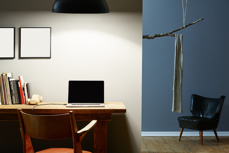 homeoffice: urban lifestyle design interior office and hallway Stock Photo