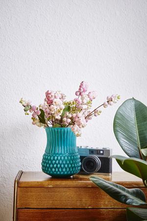 vivid interior design home style vase with snowberries