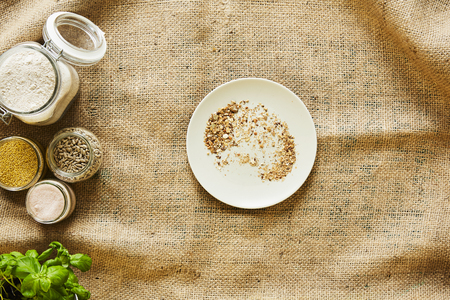 bread crumbs on a plate