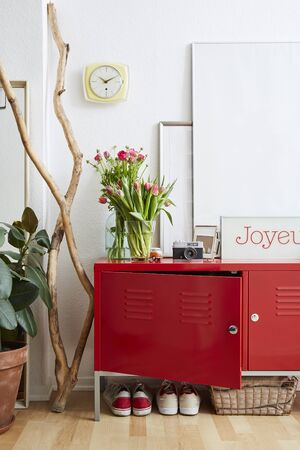 spirtited interior flowers pictures red metal cabinet branch and decoration