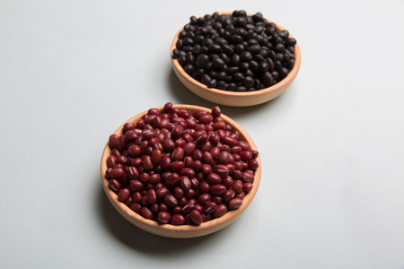 black beans: Red beans and black beans Stock Photo