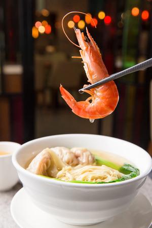 Won ton noodle with shrimps
