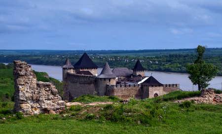 chernivtsi: Khotyn district, Chernivtsi region.River Dnister