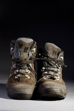 trecking: Pair of old and dirty trecking boots