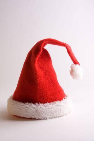 bloc: Hat of santa claus on white bottom