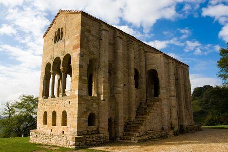 declared: PreRomanesque Chiesa di Santa Maria del Naranco (IX secolo) a Oviedo Asturie, in Spagna. Dichiarata patrimonio culturale dell'umanit� dall'UNESCO nel 1985 Archivio Fotografico