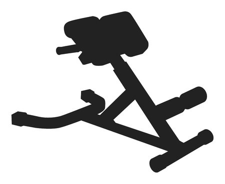 Simulator hyperextension  black and white icon