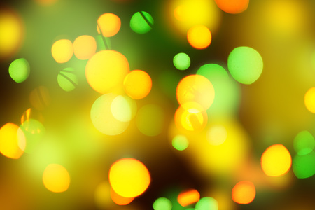 An arrangement of different shapes and multicolored spots background. Stock Photo