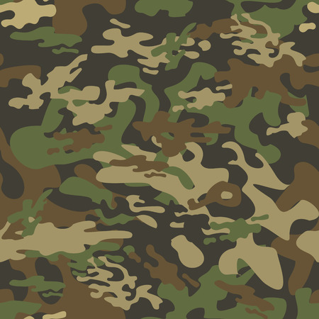 Texture military camouflage. repeats seamless army green hunting pattern Illustration