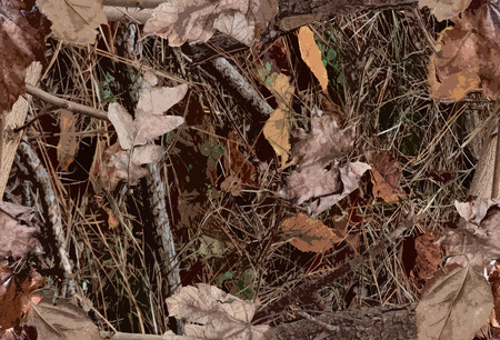 Un motif de camouflage des bois à des fins de chasse