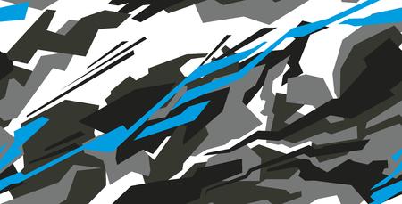 Auto-Aufkleber-Wrap-Design-Vektor. Grafische abstrakte Streifenrennen-Hintergrund-Kit-Designs für Fahrzeug