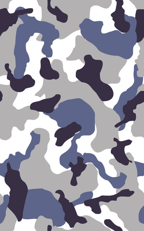 Camouflage seamless color pattern. Army camo, camouflage clothing background. Vector illustration. Sea water camouflage seamless pattern. Blue and gray camouflage vector Ilustrace