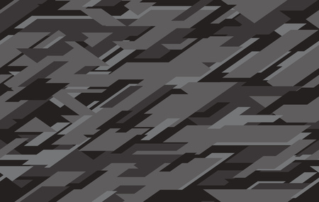 Abstract modern military camo texture style background. Geometric camouflage seamless pattern. Vector illustration.