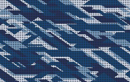 Ilustracja wektorowa bezszwowe tło wzór kamuflażu. Cyfrowy streszczenie geometryczne nowoczesne tekstury. Sześciokątny wzór kamuflażu moda. Streszczenie bezszwowe nadruk geometryczny na tkaninie, designie, sztuce.