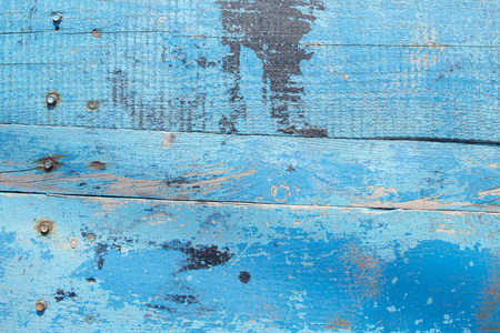 Blue Barn Wooden Wall Planking Texture. . Paint Peeled Grungy Weathered Timber Reklamní fotografie