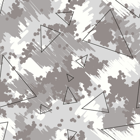 Seamless futuristic fashion black, gray and white sharp edges camo pattern vector. Camouflage Sport. T-shirt and apparels print graphic vector. Urban Camo