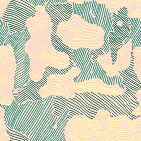 Camouflage sur le terrain de diverses nuances de couleurs vertes et bleues. C'est un motif coloré sans couture qui peut être utilisé comme imprimé camouflage pour les vêtements et l'arrière-plan et la toile de fond ou le papier peint de l'ordinateur