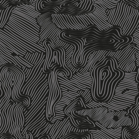 Camouflage background seamless pattern with different stripes shape. Black and white pattern. Vector illustration