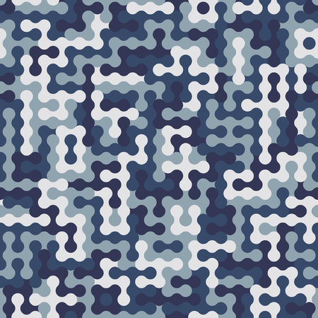 Seamless futuristic fashion shade of blue and white sharp edges camo doted pattern vector. Camouflage Sport. T-shirt and apparels print graphic vector. Urban Camo