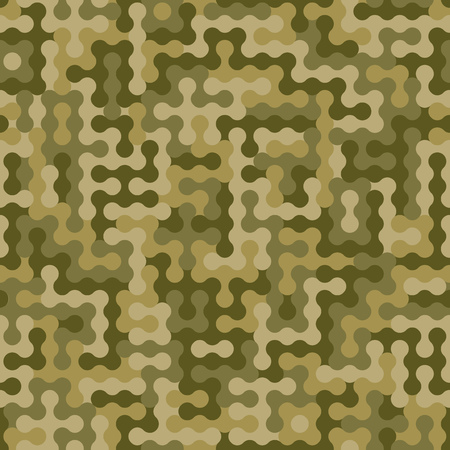 Abstract military or hunting camouflage background. Seamless pattern. Sandy, deserted, mountain camouflage. Dotes shapes. Camo. Vector illustration Ilustrace
