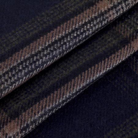 Close-up mens scarf in brawn and white checkered fabric with folds Reklamní fotografie