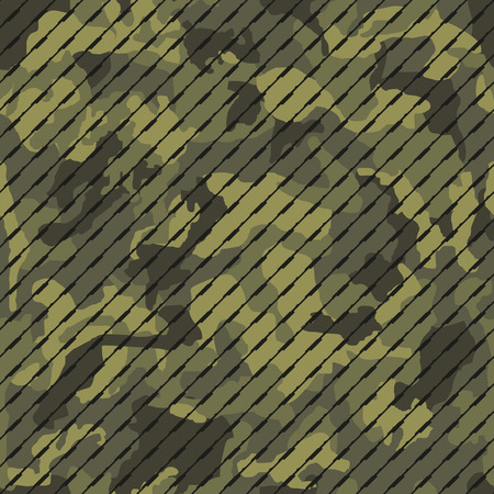Vector illustration of camouflage seamless pattern with lines, creative repeating line of texture for printing, wrapping, wallpaper, fabric, and textile.