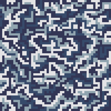 Vector military squre camouflage seamless pattern. Vector illustration can be used for wallpaper, pattern fills, web page background, print on fabric or wrapping paper. Navy color combination