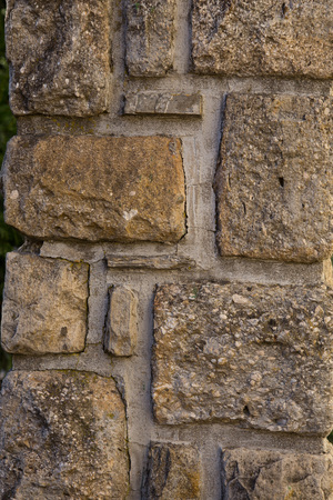 Texture of a yellow sbrick tone wall. Old wall texture background.