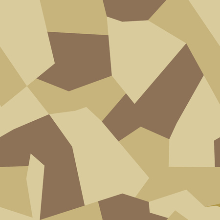 Seamless abstract vector sand military camouflage background. Pattern of Geometric Triangles Shapes for Army Clothing Ilustrace