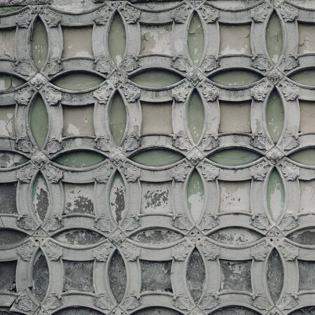 Elements of architectural decorations of buildings, gypsum stucco, plaster ornaments and patterns, wall texture. 版權商用圖片