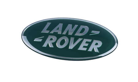 Odessa, Ukraine - April 19, 2020: Land Rover sign. Land Rover is a British car brand 新聞圖片