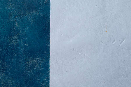 Blue and White wall texture grunge background in Mediterranean house.