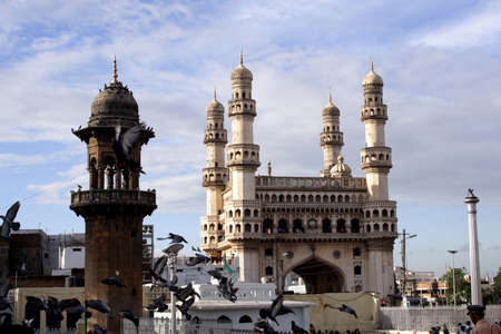 mughal architecture: Charminar,Famous monument ,Hyderabad,India