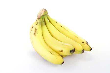 Tros bananen geïsoleerd op witte achtergrond