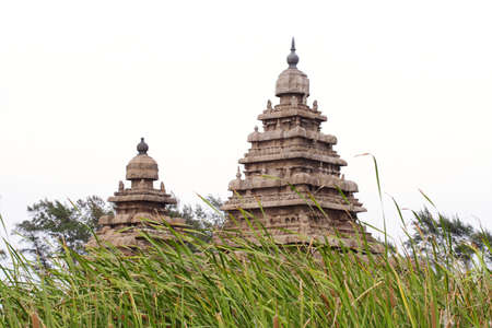 Oude Shore tempel van Mahabalipuram, Tamil Nadu, India Stockfoto