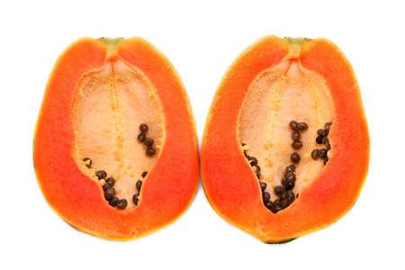 cutaneous: papaya in white background  Stock Photo